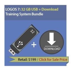 LearnLogos 7 Training - 32 GB USB + Download