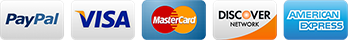 We accept PayPal, Visa, MasterCard, Discover, American Express, and most Debit Cards.